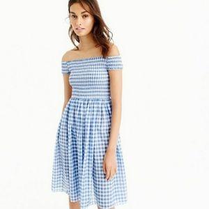 JCrew Gingam OTS Summer Dress